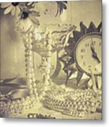 Antique Dressing Table Metal Print