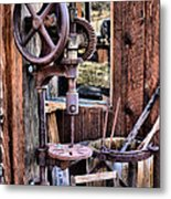 Antique Drill Press Metal Print