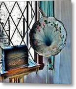 Antique Edison Phonograph In The Boardwalk Plaza Lobby - Rehoboth Beach Delaware Metal Print