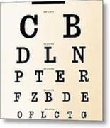 Antique Eye Chart Metal Print