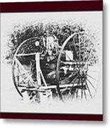 Antique Farm Machine Metal Print