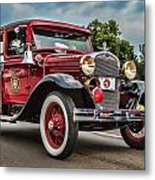 Antique Fire Engine Metal Print