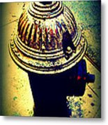 Antique Vintage Fire Hydrant - Multi-colored Metal Print