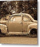 Antique Ford Car Sepia 1 Metal Print