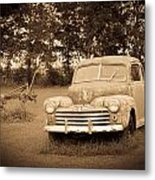 Antique Ford Car Sepia 2 Metal Print