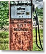 Antique Gas Pump 1 Metal Print