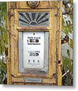 Antique Gas Pump Metal Print by Peter French