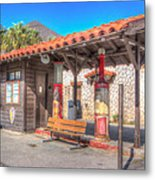 Antique Gas Station Metal Print