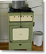 Antique Green Stove And Pressure Cooker Metal Print