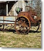 Antique Hay Bailer 1 Metal Print by Douglas Barnett