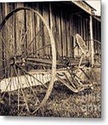 Antique Hay Rake Metal Print