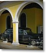 Antique Hearse In Havana Cemetary Metal Print
