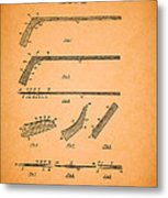 Antique Hockey Stick Patent 1935 Metal Print