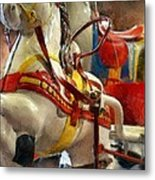 Antique Horse Cart Metal Print by Michelle Calkins