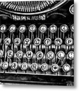 Antique Keyboard - Bw Metal Print