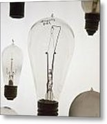 Antique Light Bulbs Metal Print