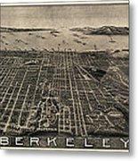 Antique Map Of Berkeley California By Charles Green - Circa 1909 Metal Print
