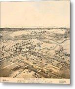 Antique Map Of New Braunfels Texas 1881 Metal Print