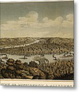 Antique Map Of Pittsburgh Pennsylvania By Otto Krebs - 1874 Metal Print
