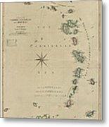 Antique Map Of The Caribbean - Lesser Antilles - By Mathew Richmond - 1789 Metal Print