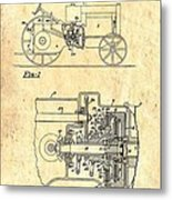 Antique Massey-ferguson Tractor Patent 1935 Metal Print