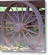 Antique Metal Wheel Metal Print