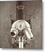 Antique Microscope Metal Print