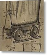 Antique Mining Trolley Patent Metal Print