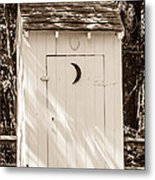 Antique Outhouse Metal Print