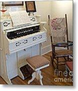 Antique Parlor Organ Metal Print
