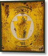 Antique Metal Pennsylvania Forest Fire Warden Sign Metal Print