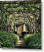 Antique Pergola Arbor Metal Print