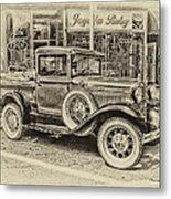 Antique Pickup Truck Metal Print