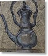Antique Pitcher Metal Print by Kathy Weidner