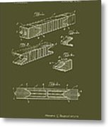 Antique Railroad Tie Patent 1915 Metal Print