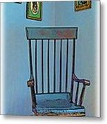 Antique Rocking Chair Metal Print