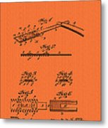 Antique Safety Razor Patent 1912 Metal Print