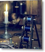 Antique Sewing Items Metal Print by Amanda Elwell