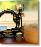 Antique Sewing  Machine Metal Print