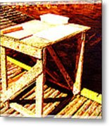 Antique Splitting Table 2 Metal Print