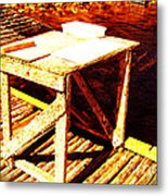 Antique Splitting Table Metal Print