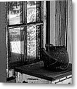 Antique Stove On Porch Metal Print
