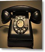 Antique Telephone Metal Print by Diane Diederich