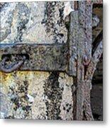 Antique Textured Metalwork Gate Metal Print