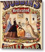 Antique Toilet Soap Ad - 1868 Metal Print