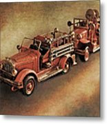 Antique Toy Fire Trucks Metal Print