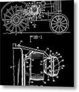 Antique Tractor Patent Metal Print