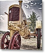 Antique Tractor Metal Print by Tamyra Ayles