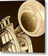 Antique Trumpet Metal Print