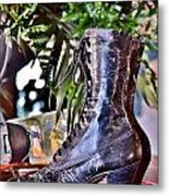 Antique Victorian Boots At The Boardwalk Plaza Hotel - Rehoboth Beach Delaware Metal Print